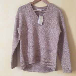 MICHAEL KORS V-neck high-low knitted sweater